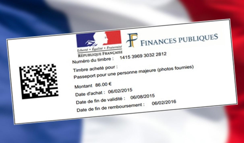 Comment acheter un timbre fiscal pour un passeport en France ?